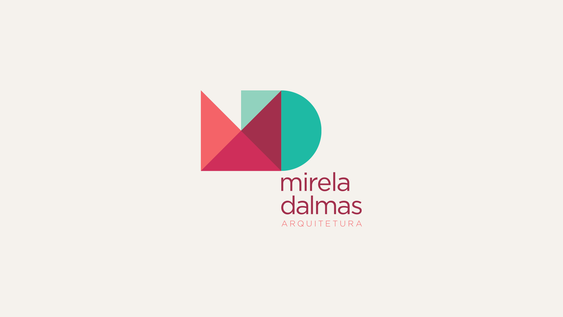visual branding material for of mirela dalmas architecture office in brazil i focused on the initials of her name with a geometrical approach in relation architect office names