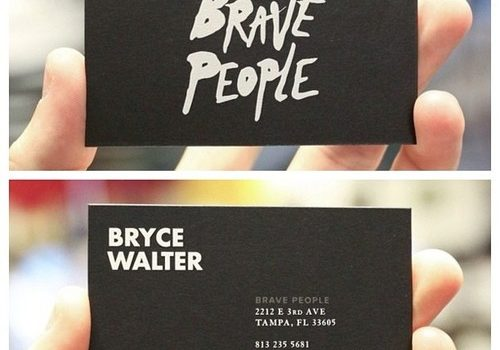 11 business card designs with big typography